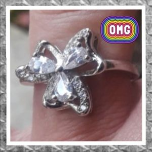 3/$25 Silver Plated Clover Ring
